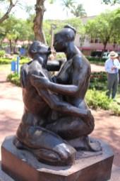 The Kiss, Parque Morazan by Olger Villegas-Cruz