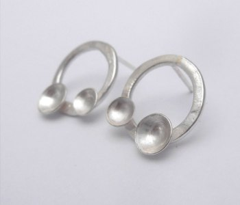 charlie leftley domes double earrings