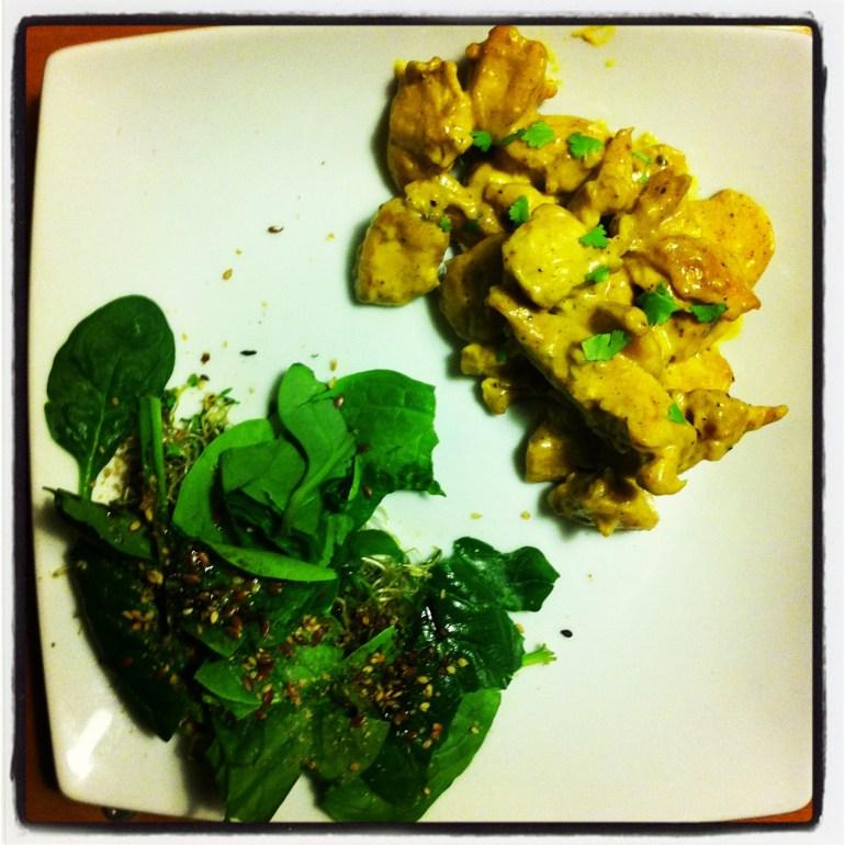 recette cuisine poulet au curry au lait de coco coriandre