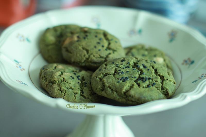 cookies matcha sésame chocolat blanc recette