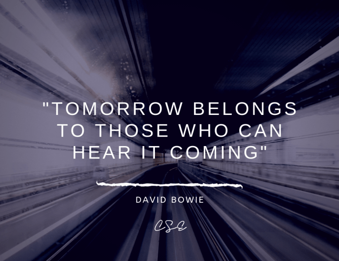 Music, Quotes & Coffee - Picture of a quote by David Bowie