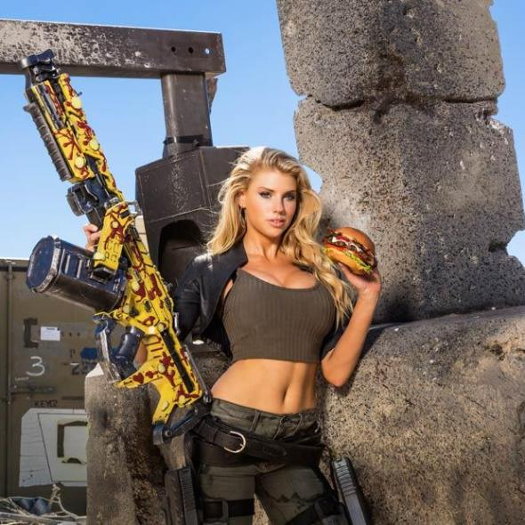 Charlotte McKinney on Carl's Jr. & Call of Duty Black Ops 3 Commercial - 16