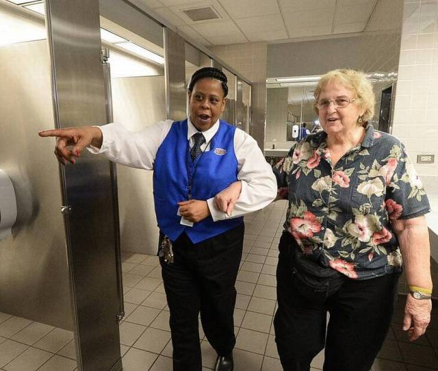 Airport Restroom Attendants Welcome To Charlotte Heres A Paper