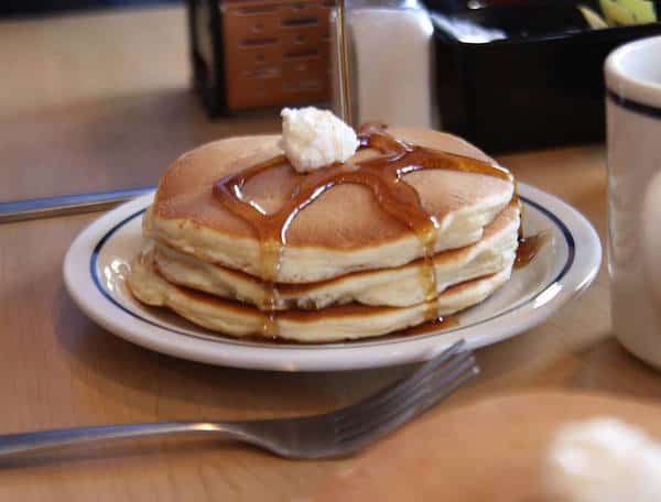short stack of buttermilk pancakes at ihop. Just $1 on May 21