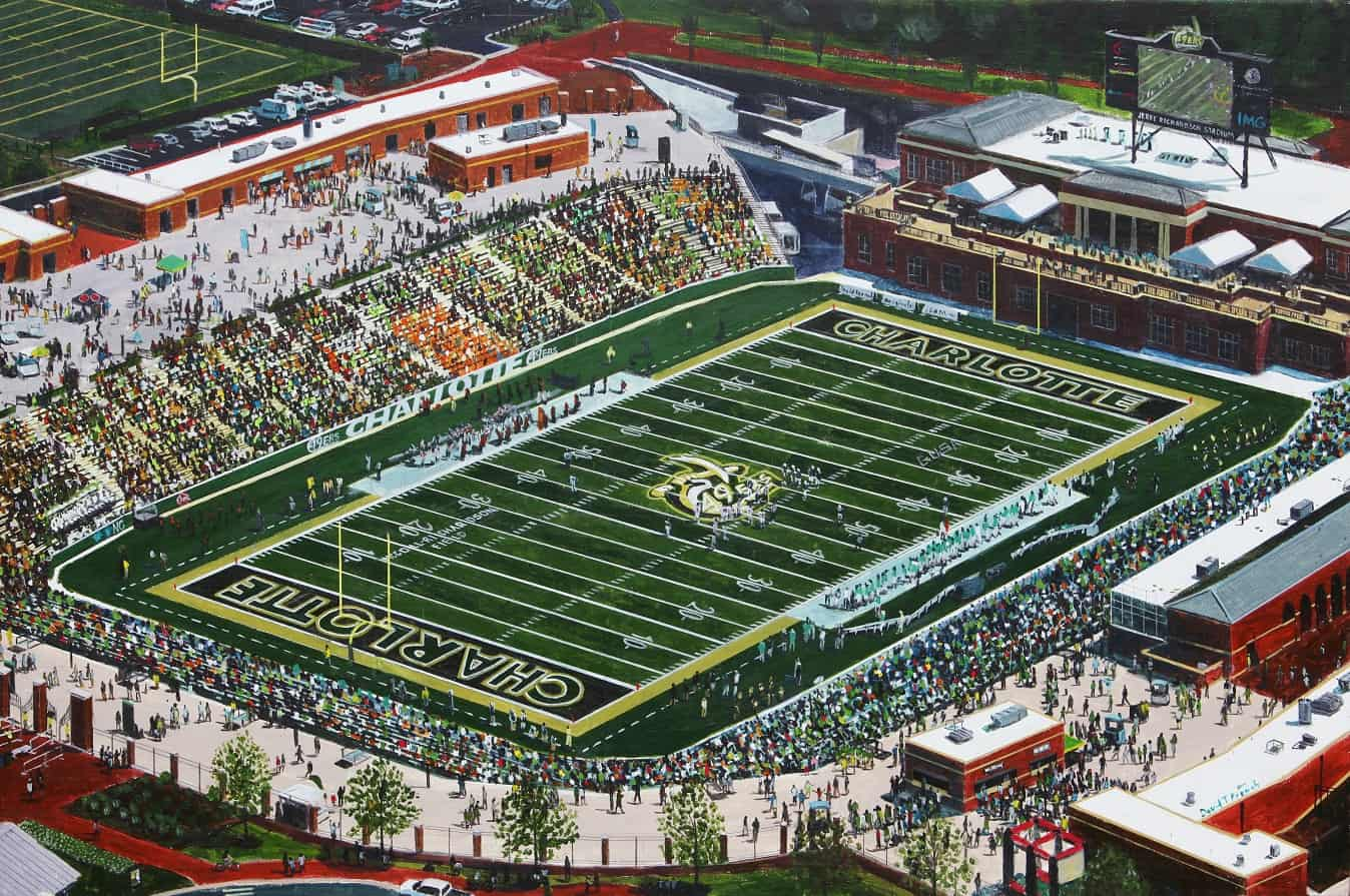 Uncc Calendar.Winner Announced For Print Of David French S Uncc 49ers Football