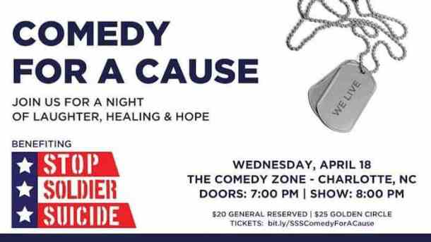 Free tickets to comedy show for veterans and active duty