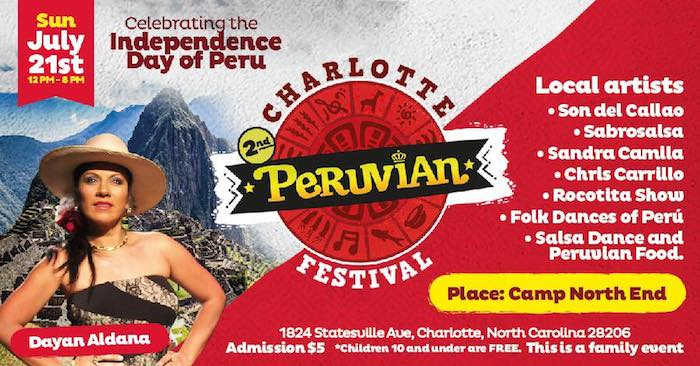 Charlotte Peruvian Festival at Camp North End July 21