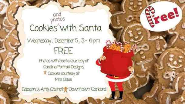 Cookies And Photos With Santa At Cabarrus Arts Council Charlotte
