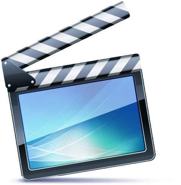 Vector Illustrator Of Open Movie Clapper Board