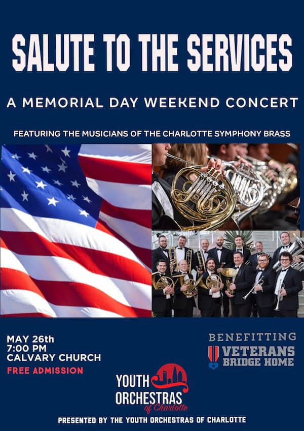 poster for free Memorial Day concert in Charlotte