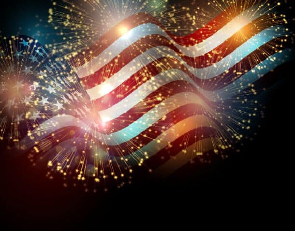 United States Flag United States Flag Fireworks Background For Usa Independence Day Fourth Of July Celebrate