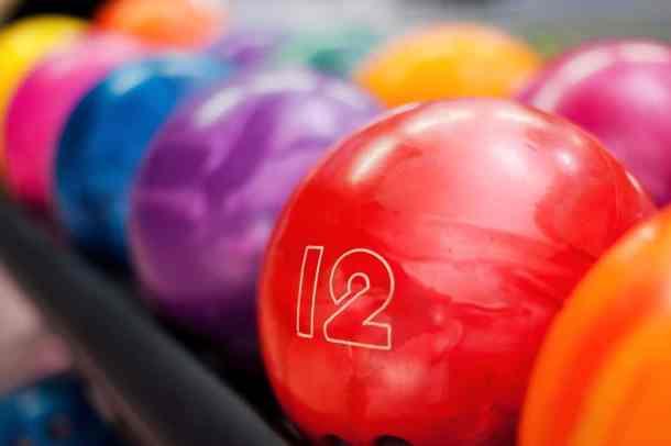 Color bowling balls