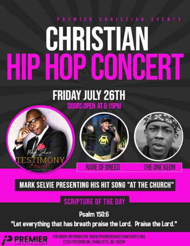 Free Christian Hip Hop Concert on Friday - Charlotte On The Cheap