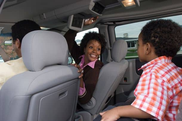 Family With One Child 5 6 In Car