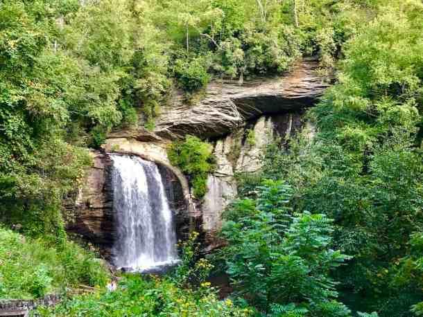 Looking Glass Falls, waterfall in Western North Carolina