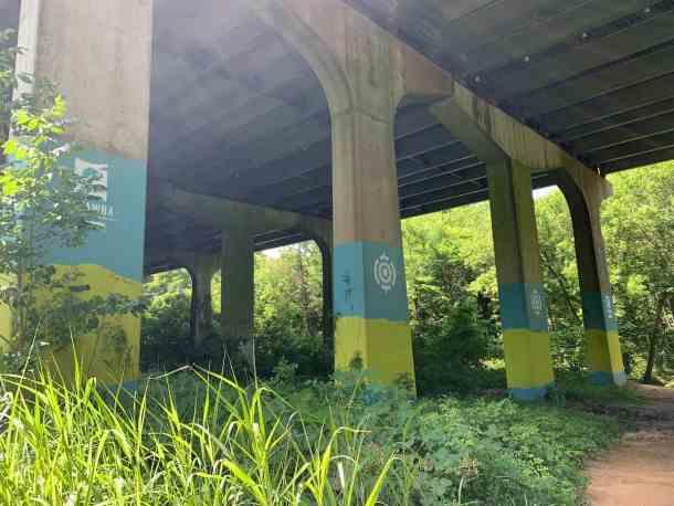 South Fork Trail under I-85 in McAdenville, NC