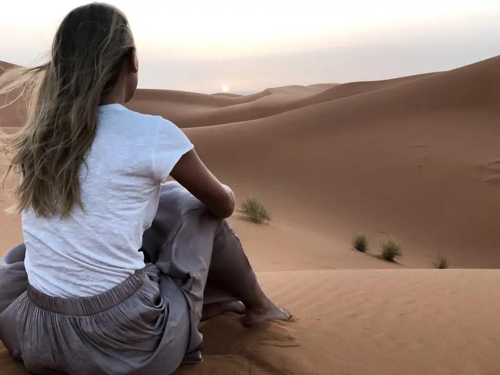 Maroc merzouga désert cameltrip sunrise
