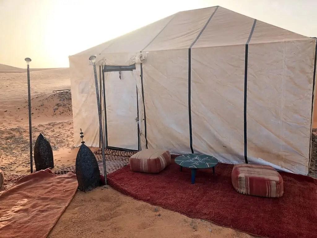 désert camp maroc