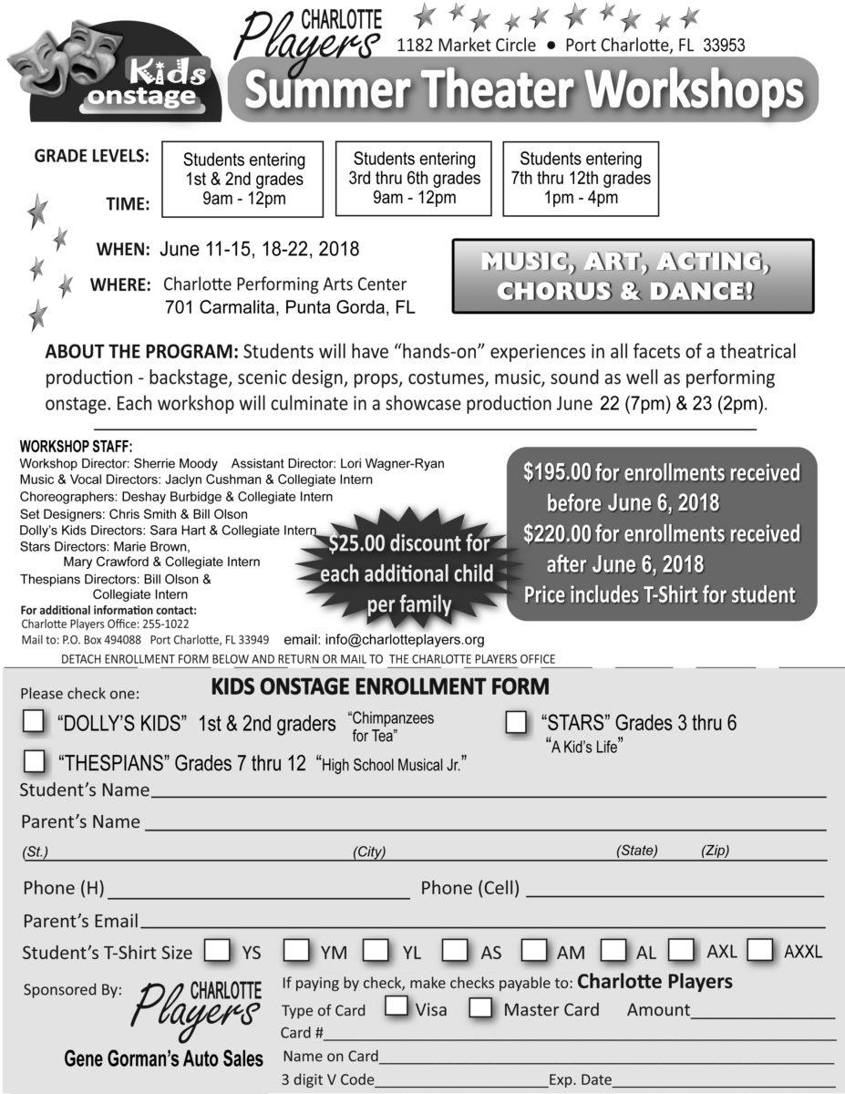 Enrollment Form Back b&w - Charlotte Players