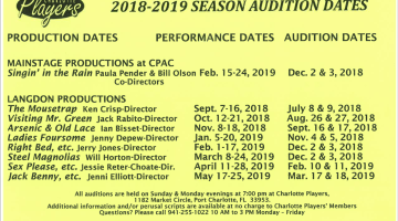 Audition Dates