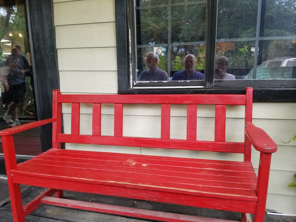 Front Porch of the Antler Cafe, Spring Branch, Texas
