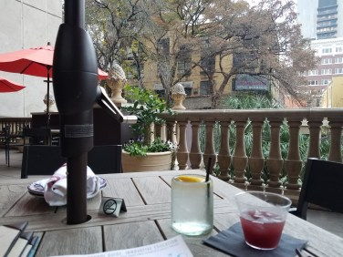 Outdoor dining at Dorrego's