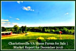 Charlottesville VA Horse Farms for Sale | Market Report for November 2016