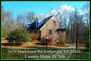 Price Reduced! 5639 Markwood Rd Earlysville VA 22936 | Country Home for Sale