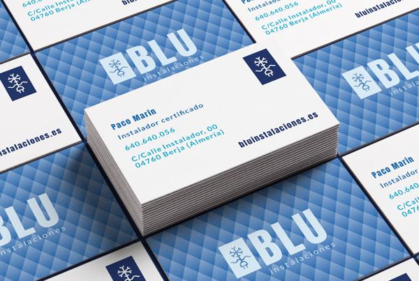 Blu Instalaciones | diseño de logotipo profesional