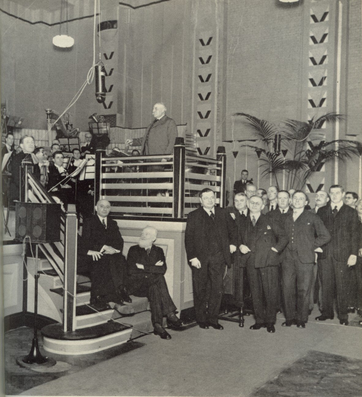 Elgar at the opening of Abbey Road studios