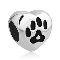 CharmsStory Stainless Steel Dog Mom Charm Pet Paw Print New Jewelry Sale Cheap Beads Fit Pandora Bracelet