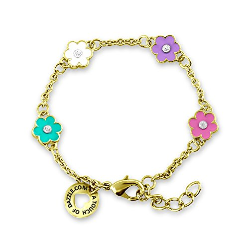 Fashion Gold Color Plated Copper Jingle Bell Charm Bracelet// Anklet with Extender Chain