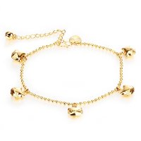 Fashion Ahead Cute 18k Gold Plated Hello Kitty Pendant Anklet Bracelet Charm Foot Chain Ajustable
