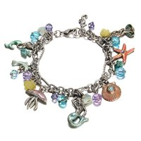 Yoshine(TM) Sterling Silver Plated Pendant Series Charms Bracelet for Kids Girls Jewelry (Mermaid)