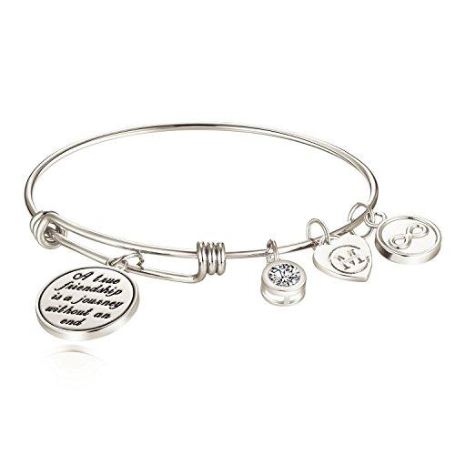 Silver Small Jude Jewelers Stainless Steel Adjustable DIY Customise Braided Bangle Bracelet