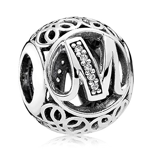 Everbling Romantic Heart to Heart Pink CZ 925 Sterling Silver Bead Fits European Charm Bracelet