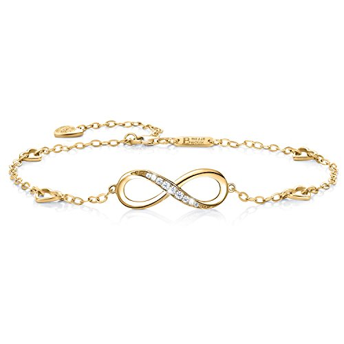 Womens Adjustable Bracelet Simple Number 8 Infinity Friendship Charm Jewelry Gift,24cm Durable and Useful