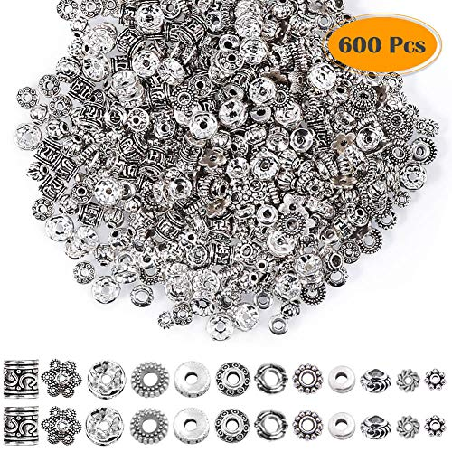 100pcs Spacer Beads Charm Spacers Alloy Spacer Beads for Jewelry Making DIY Gift