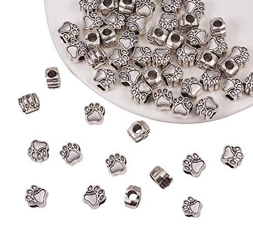 2//8 HOUSWEETY Stainless Steel Jewelry Finding 100pcs Silver Tone Flower Bead Caps Findings Jewelry Making Beads 6mm