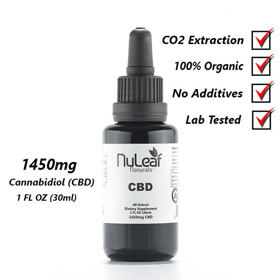 NuLeaf 1450mg Full Spectrum CBD Oil, High Grade Hemp Extract (50mg/ml)