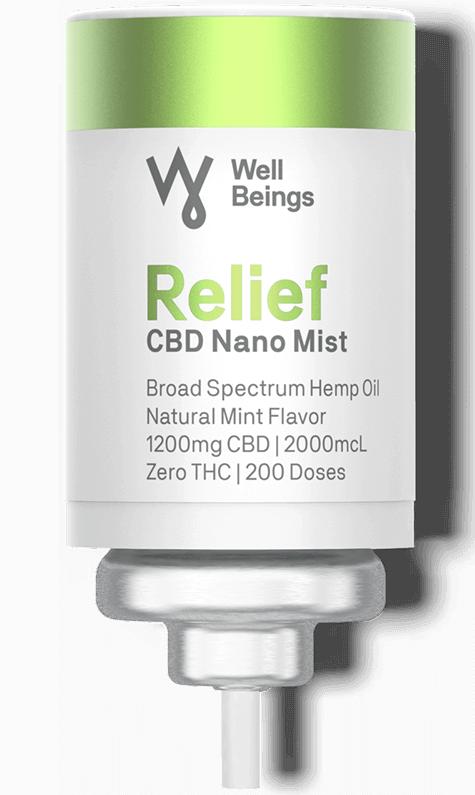 Well Beings Relief CBD Nano Mist Inhaler Refill