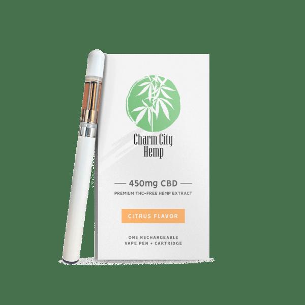 Charm City Hemp CBD Vape Pen + Cartridge 385mg