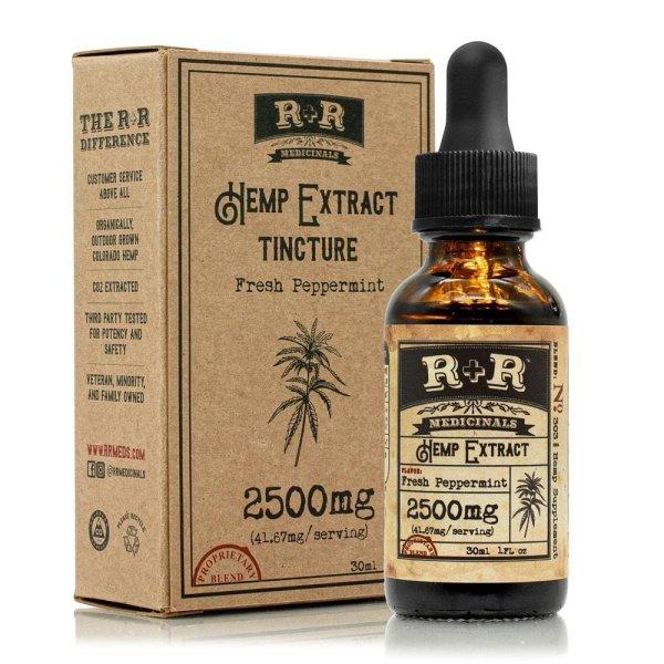 R and R Medicinals 2500mg CBD Tincture