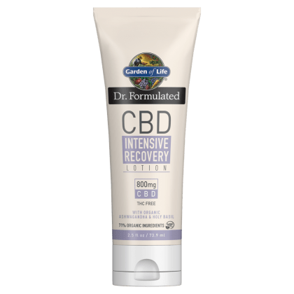 Garden of Life Dr. Formulated CBD Intensive Recovery Lotion 800mg