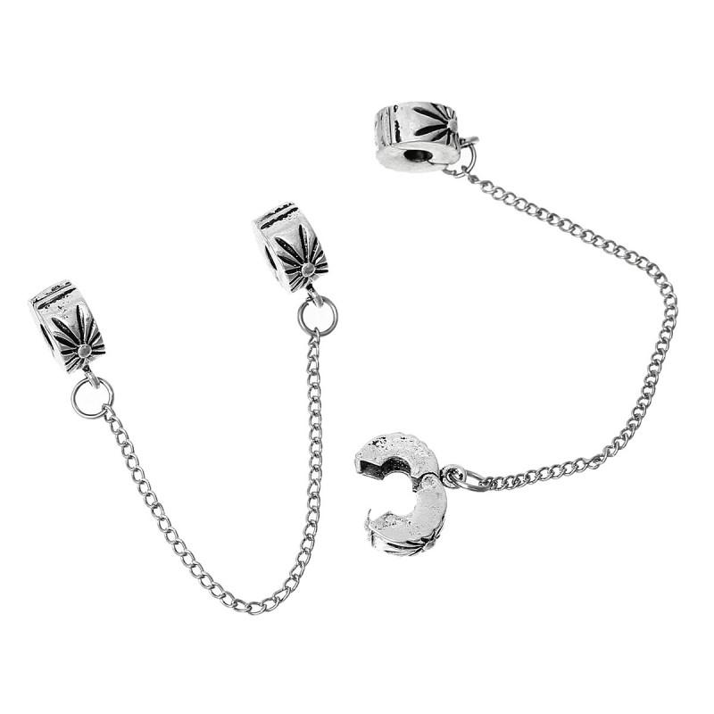 fermoirs avec chaine de securite pour bracelet collier style pandora
