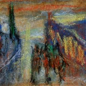 """Di Francesco Totino l'opera """"passeggiando all'ombra del tempio"""""""