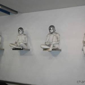 Stazione Quattro Giornate, opera di  Marisa Albanese, i Combattenti