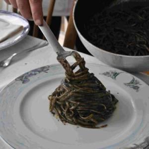 Ristorante Garibaldi Bacoli limguine al nero di seppia