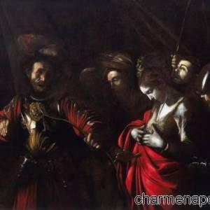 martirio di sant orsola Caravaggio_palazzo Zevallos