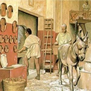 La ricostruzione di un antico molino pompeiano